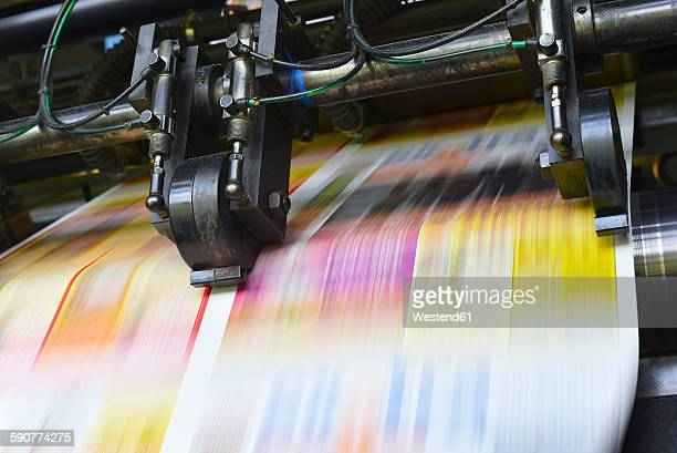 Printing machine in a printing shop