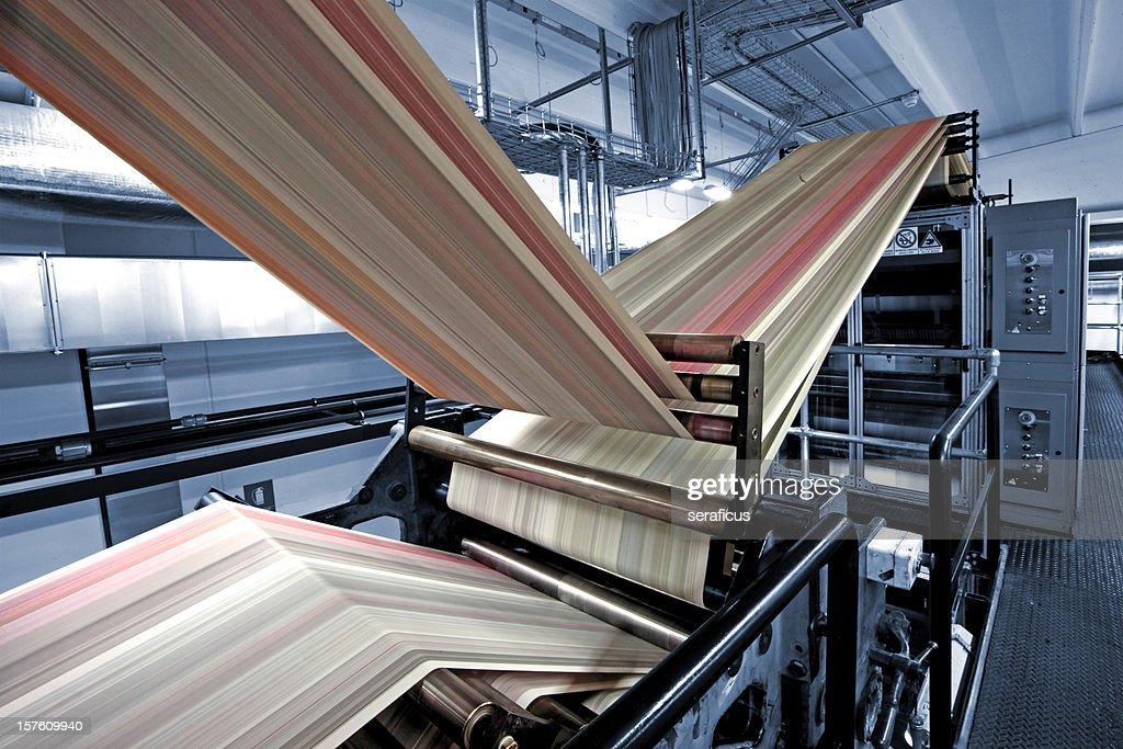 Printing press in blue