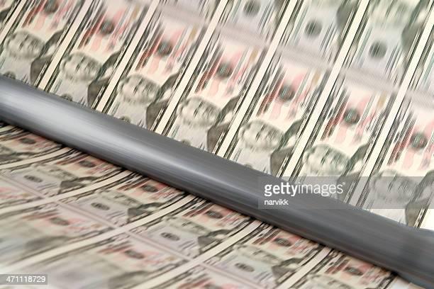 Drucken US-dollar-Banknoten