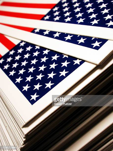 Printouts of USA Flag