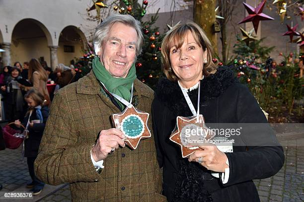 Prinz Leopold von Bayern and his wife Prinzessin Ursula von Bayern during the 21th BMW advent charity concert at Jesuitenkirche St Michael on...