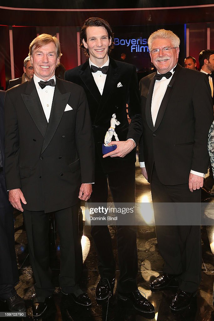 Prinz Leopold von Bayern, Sabin Tambrea and Martin Zeil attend the Bavarian Movie Awards 2013 after party on January 18, 2013 in Munich, Germany.