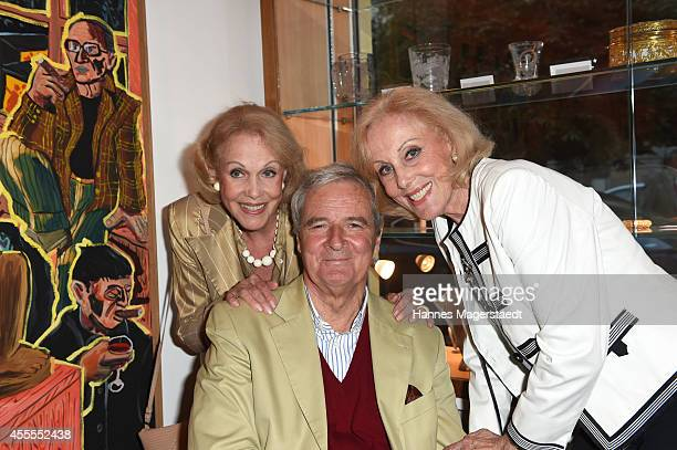 Prinz Peter zu Hohenlohe and Ellen and Alice Kessler attend the Dorotheum Munich Hosts Cocktail Reception on September 16 2014 in Munich Germany