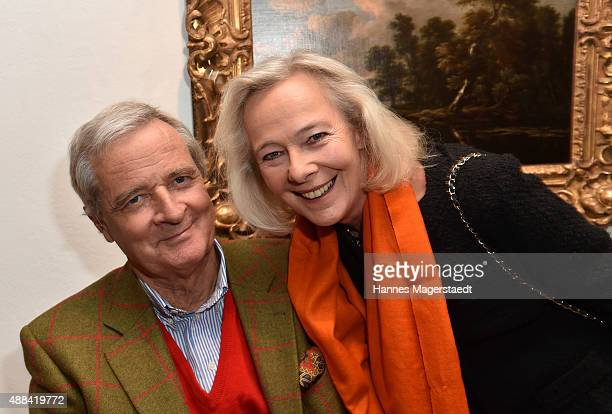 Prinz Peter zu Hohenlohe and Prinzessin Uschi zu Hohenlohe attend the 'Dorotheum Munich Hosts Cocktail Reception' on September 15 2015 in Munich...