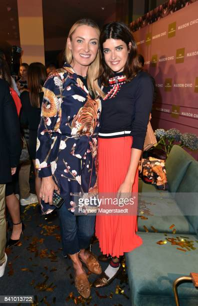 Prinzessin Lilly SaynWittgenstein and Marie Nasemann during the Maison Chic event at KONEN on August 30 2017 in Munich Germany