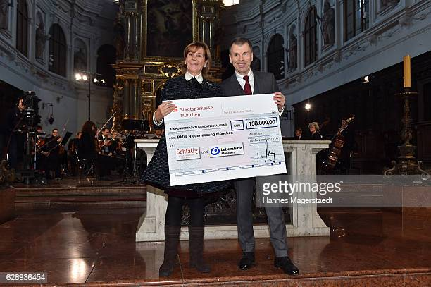 Prinzessin Ursula von Bayern and Peter Mey BMW Muenchen during the 21th BMW advent charity concert at Jesuitenkirche St Michael on December 10 2016...
