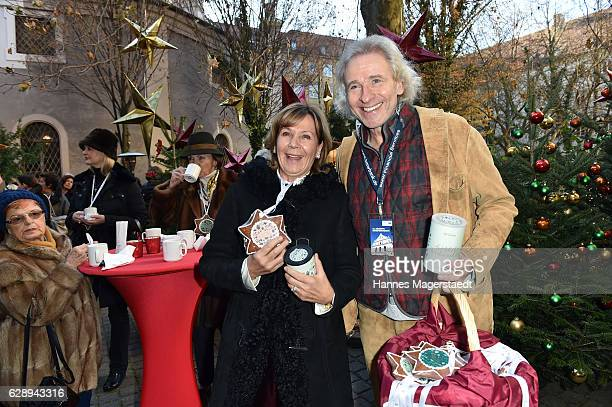 Prinzessin Ursula von Bayern and Thomas Gottschalk during the 21th BMW advent charity concert at Jesuitenkirche St Michael on December 10 2016 in...