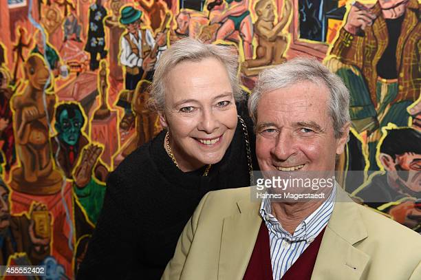 Prinzessin Uschi zu Hohenlohe and Prinz Peter zu Hohenlohe attend the Dorotheum Munich Hosts Cocktail Reception on September 16 2014 in Munich Germany