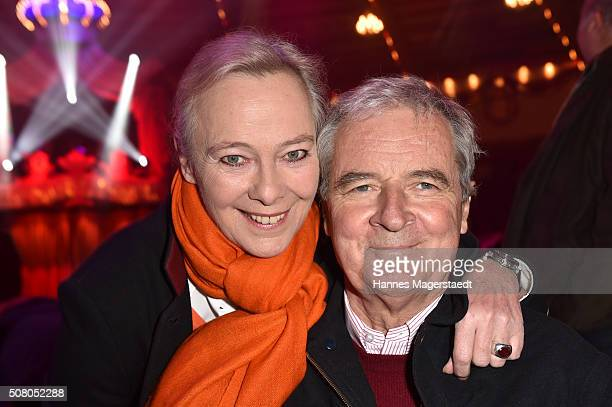 Prinzessin Uschi zu Hohenlohe and Prinz Peter zu Hohenlohe during the premiere of the Circus Krone program 'Circus der Preistraeger' at Circus Krone...