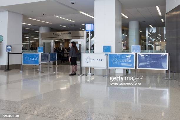 Priority checkpoint for the private security screening service Clear at San Francisco International Airport San Francisco California September 13 2017