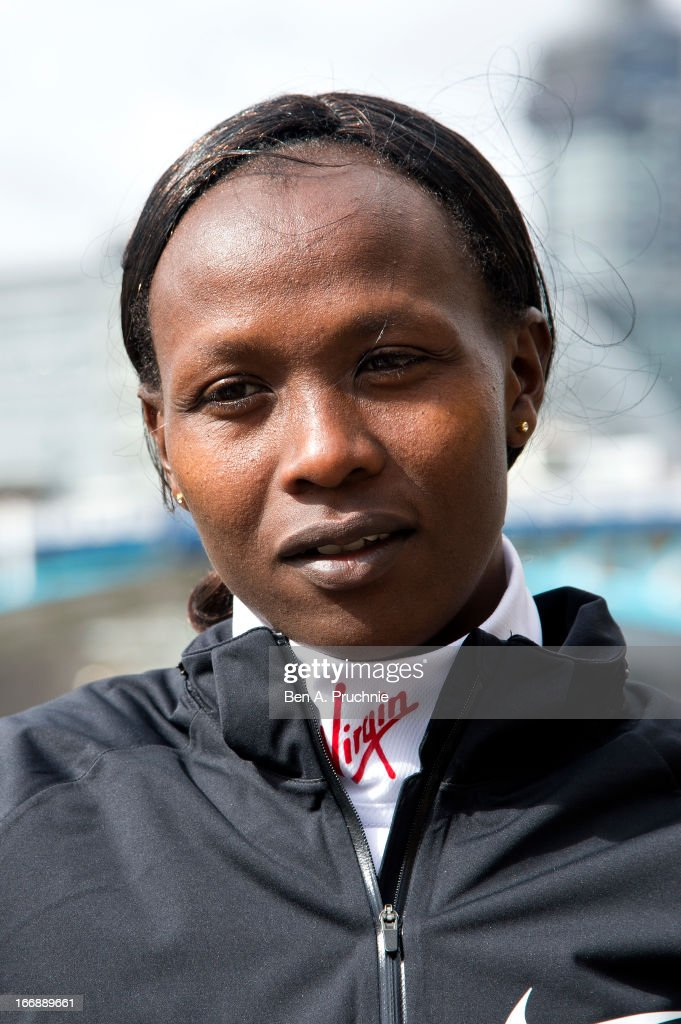 <a gi-track='captionPersonalityLinkClicked' href=/galleries/search?phrase=Priscah+Jeptoo&family=editorial&specificpeople=7640677 ng-click='$event.stopPropagation()'>Priscah Jeptoo</a> attends the photocall for International Women photocall ahead of The the London Marathon at The Tower Hotel on April 18, 2013 in London, England.
