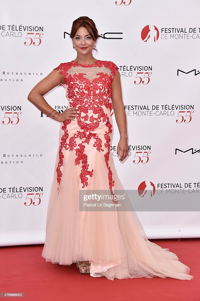 Priscilla Betti arrices at the opening ceremony of the 55th Monte Carlo TV Festival on June 13, 2015 in Monte-Carlo, Monaco.