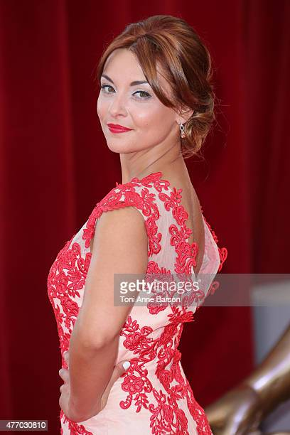 Priscilla Betti attends the 55th Monte Carlo TV Festival Opening Ceremony at the Grimaldi Forum on June 13 2015 in MonteCarlo Monaco