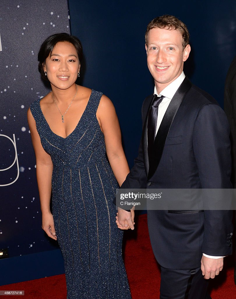 <a gi-track='captionPersonalityLinkClicked' href=/galleries/search?phrase=Priscilla+Chan&family=editorial&specificpeople=4125446 ng-click='$event.stopPropagation()'>Priscilla Chan</a> and <a gi-track='captionPersonalityLinkClicked' href=/galleries/search?phrase=Mark+Zuckerberg&family=editorial&specificpeople=4841191 ng-click='$event.stopPropagation()'>Mark Zuckerberg</a> attend the 2014 Breakthrough Prize Awards at NASA AMES Research Center on November 9, 2014 in Mountain View, California.