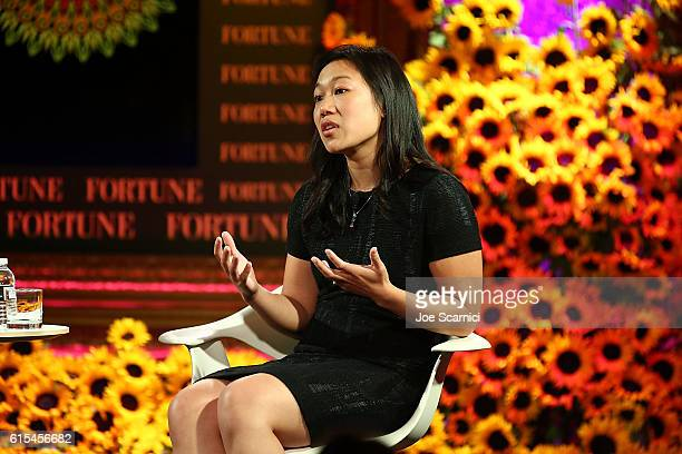 Priscilla Chan speaks onstage at the Fortune Most Powerful Women Summit 2016 at RitzCarlton Laguna Niguel on October 18 2016 in Dana Point California