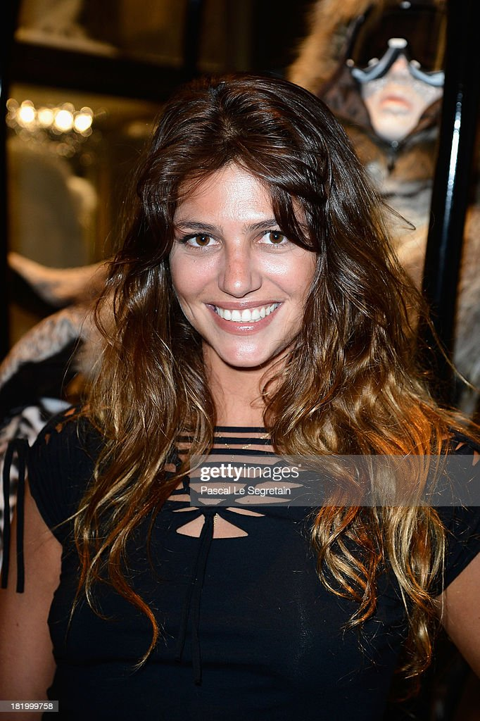 Priscilla de la Forcade attends the cocktail for the Moncler New Flagship Opening in Paris at Rue Du Faubourg Saint-Honore on September 26, 2013 in Paris, France.