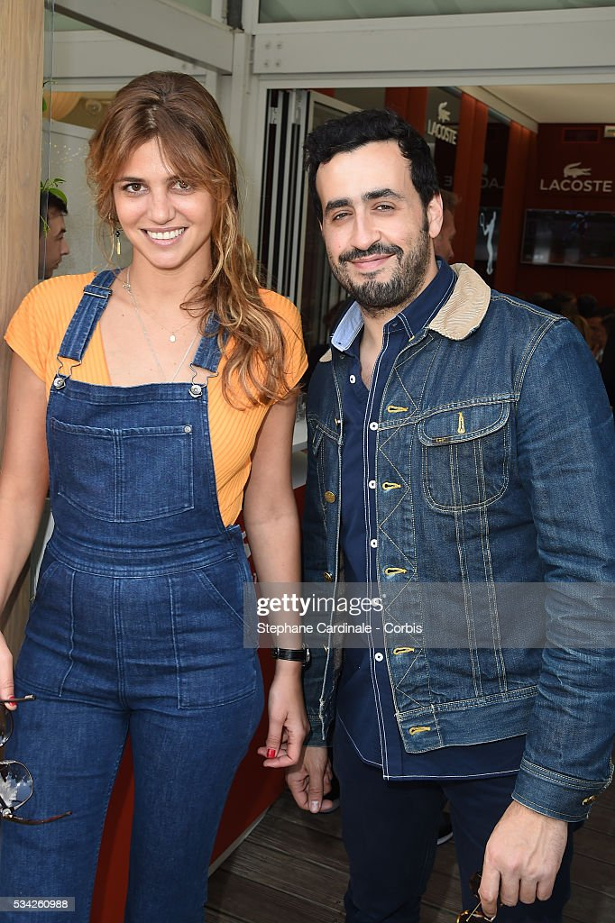 Priscilla de Laforcade and Jonathan Cohen attend the day four of the 2016 French Open at Roland Garros on May 25, 2016 in Paris, France.