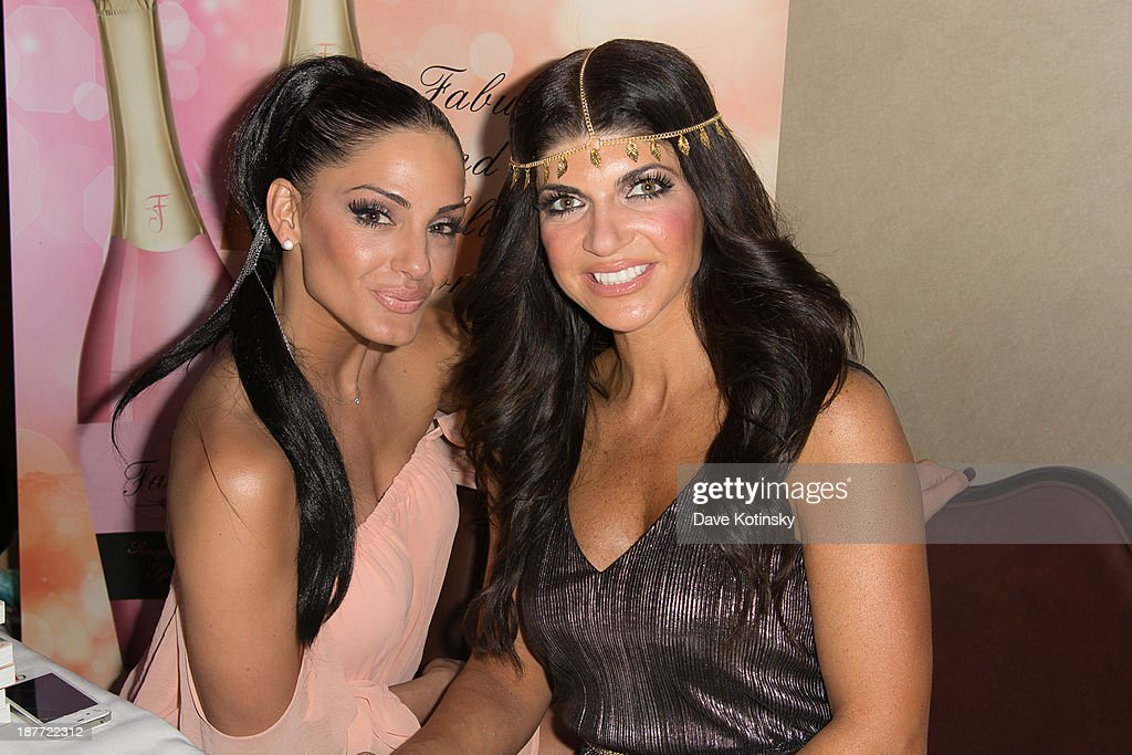 Priscilla DiStasio and <a gi-track='captionPersonalityLinkClicked' href=/galleries/search?phrase=Teresa+Giudice&family=editorial&specificpeople=5912953 ng-click='$event.stopPropagation()'>Teresa Giudice</a> attends the 'Goddess Night Out' event benefiting Project Lady Bug hosted by Dina Manzo on November 11, 2013 in Garfield, New Jersey.