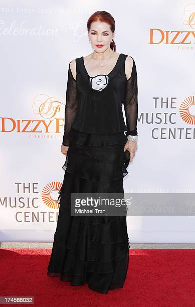 Priscilla Presley arrives at the Dizzy Feet Foundation's 3rd Annual Celebration of Dance Gala held at Dorothy Chandler Pavilion on July 27 2013 in...