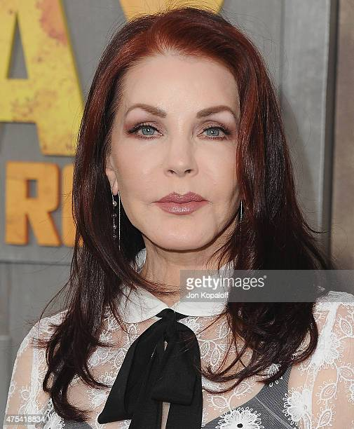 Priscilla Presley arrives at the Los Angeles Premiere 'Mad Max Fury Road' at TCL Chinese Theatre IMAX on May 7 2015 in Hollywood California