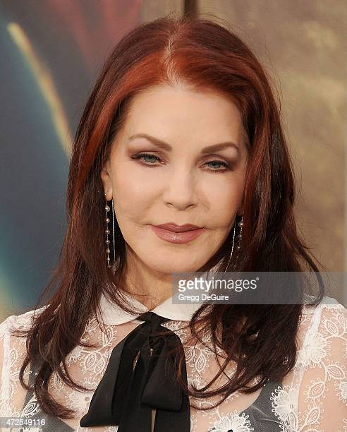 Priscilla Presley arrives at the Los Angeles premiere of 'Mad Max Fury Road' at TCL Chinese Theatre IMAX on May 7 2015 in Hollywood California
