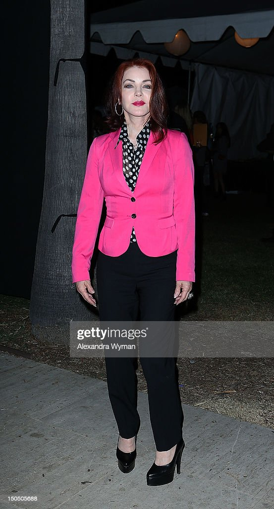 Priscilla Presley at The 8th Annual Johnny Ramone Tribute held at The Hollywood Forever Cemetery on August 19 2012 in Hollywood California