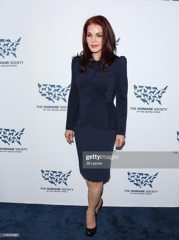 Priscilla Presley attends The Humane Society Of The United States' Los Angeles Benefit Gala at the Beverly Wilshire Hotel on May 16 2015 in Beverly...