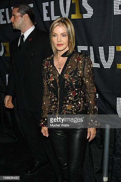 Priscilla Presley during Launch of the Ultimate Elvis Collection Elvis 30 Hits at Hard Rock Cafe New York in New York City New York United States