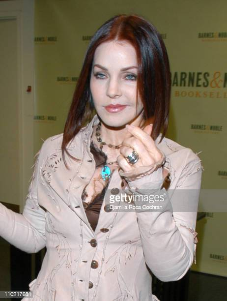 Priscilla Presley during Priscilla Presley Signs Copies of 'Elvis By The Presleys' Companion CD and Book at Barnes Noble in New York at Barnes And...