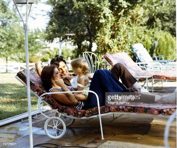 Priscilla Presley Lisa Marie Presley Elvis Presley in Hawaii California