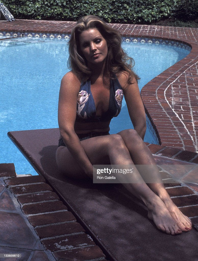 Priscilla Presley on April 9, 1975 poses for an exclusive photo session at her home in Beverly Hills, California.