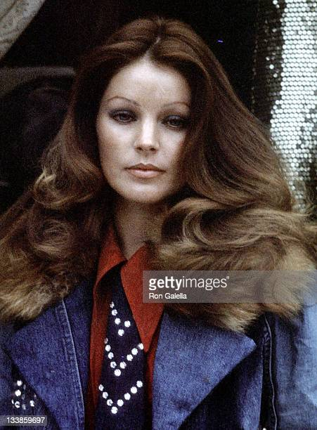Priscilla Presley on March 19 1974 poses for an exclusive photo session at her clothing shop Bis Beau Boutique in Beverly Hills California