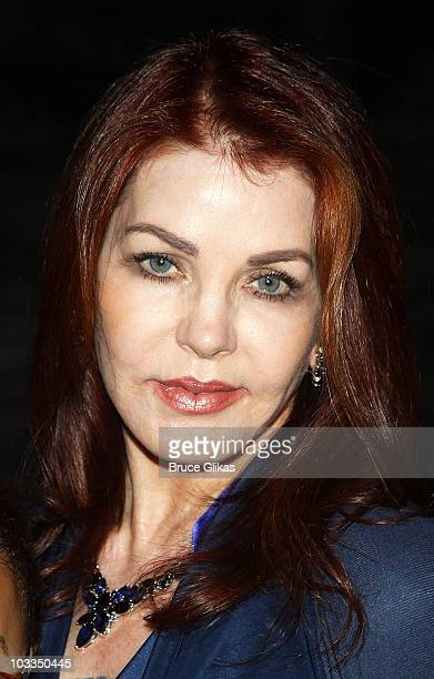 Priscilla Presley poses backstage at 'Billy Elliot' on Broadway at the Imperial Theatre on August 11 2010 in New York City