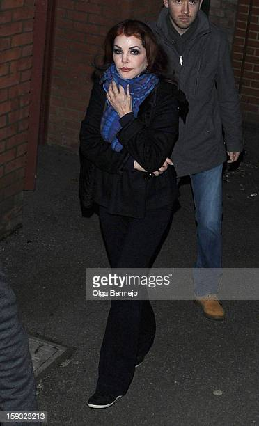 Priscilla Presley sighting on January 11 2013 in London England