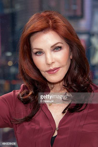 Priscilla Presley visits 'Extra' at their New York studios at HM in Times Square on October 26 2015 in New York City