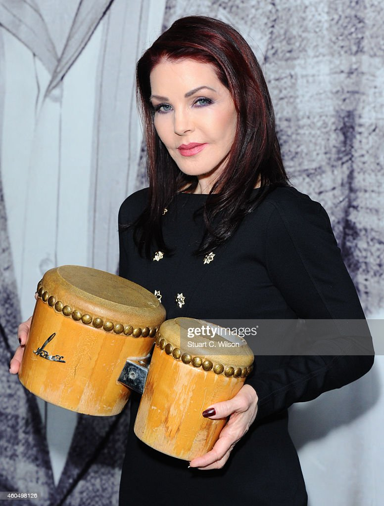 Priscilla Presley Visits The 'Elvis At The 02' Exhibition - Photocall
