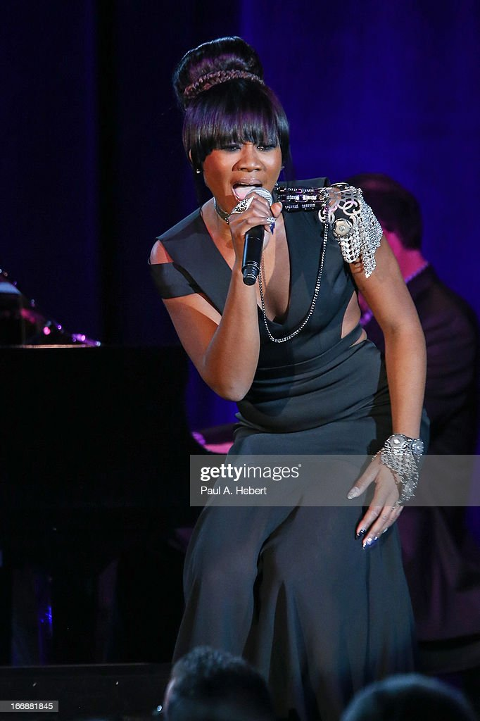 Priscilla Renea performs on stage during the 30th Annual ASCAP Pop Music Awards at Loews Hollywood Hotel on April 17, 2013 in Hollywood, California.