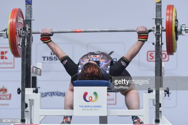 Priscilla Ribit of USA competes during the Powerlifting Women's Heavyweight competition of The World Games 2017 at the National Forum of Music On...