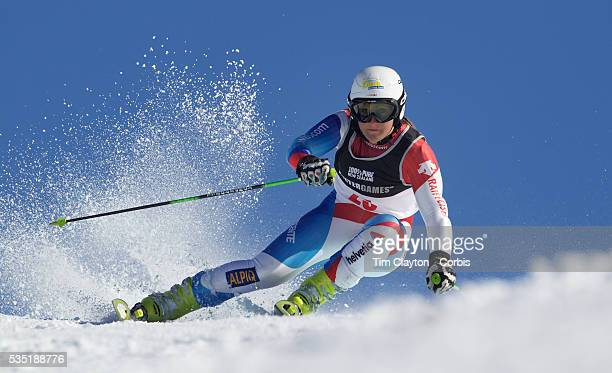 Priska Nufer Switzerland in action during the Women's Giant Slalom competition at Coronet Peak New Zealand during the Winter Games Queenstown New...