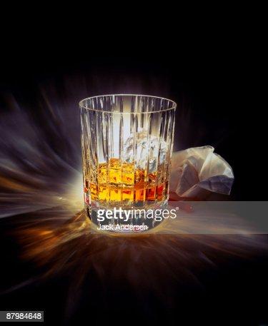 Prism glass of liquor : Stock Photo