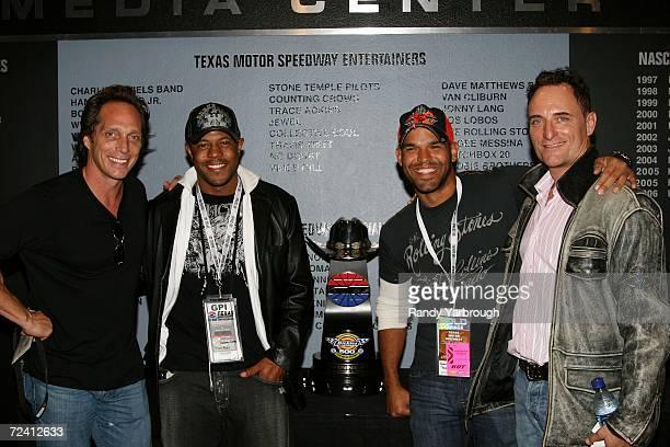 FOX 'Prison Break' actors William Fichtner Rockmond Dunbar Amaury Nolasco and Kim Coates attend the NASCAR Nextel Cup Series Dickies 500 on November...