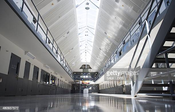 A prison cell block is seen following a tour by US President Barack Obama at the El Reno Federal Correctional Institution in El Reno Oklahoma July 16...