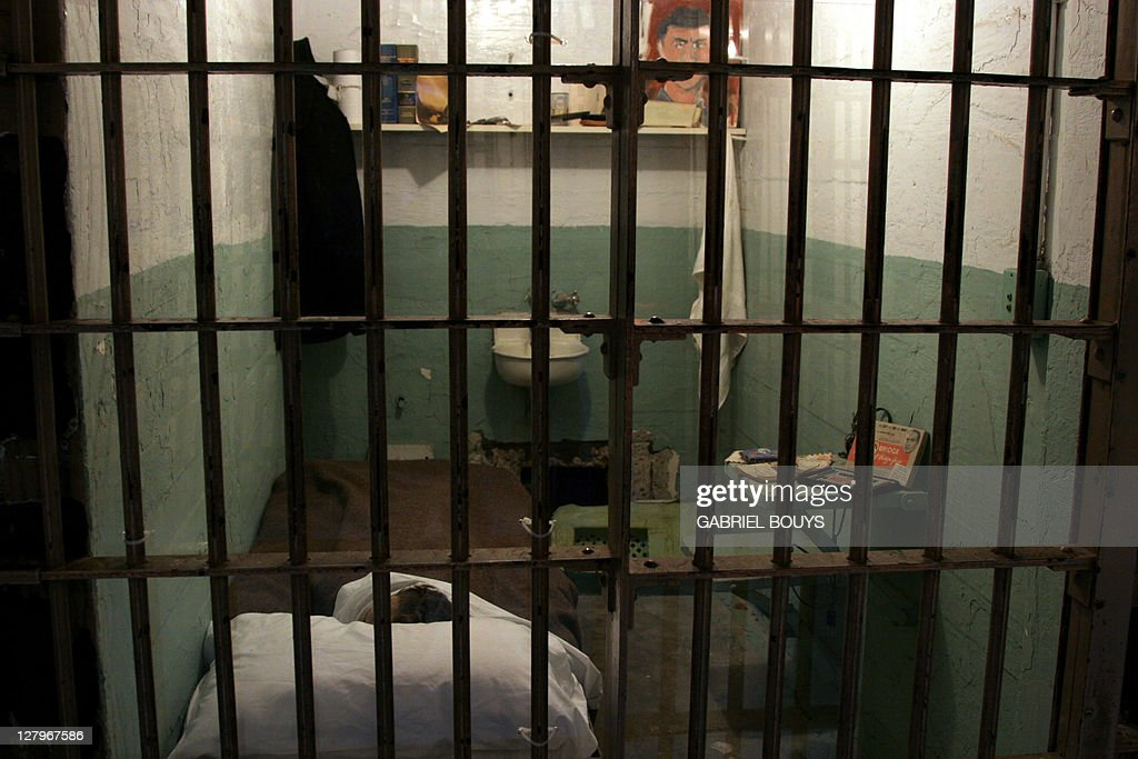 A prison cell is pictured inside Alcatraz 22 December 2006 on San Francisco Bay in California Sometimes referred to as 'The Rock' the small island of...