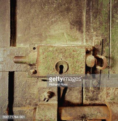 Prison door lock : Stock Photo