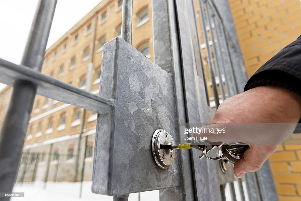 A prison officer locks a security door to a yard at the JVA Bautzen prison on December 14, 2012 in Bautzen, Germany. One of the detention houses at the prison has been marked for transformation into a preventive detention facility with construction due for completion in 2013. A new law passed this year clarifies the ability of the state to transfer convicted criminals who have served their sentences yet are still deemed as potentially dangerous to society to preventive detention facilities.