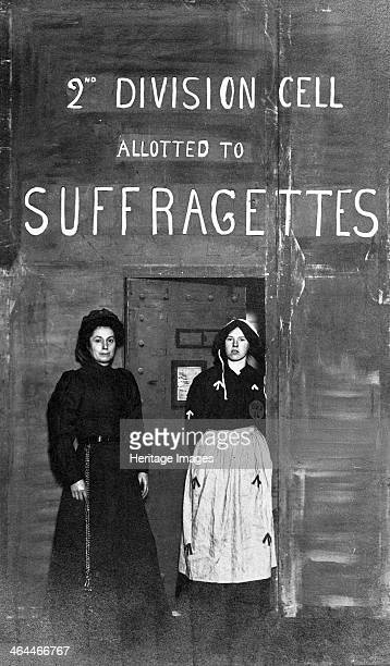 Prison officer with a suffragette prisoner c1910 Many women went to prison and were forcefed during the campaign to obtain the vote