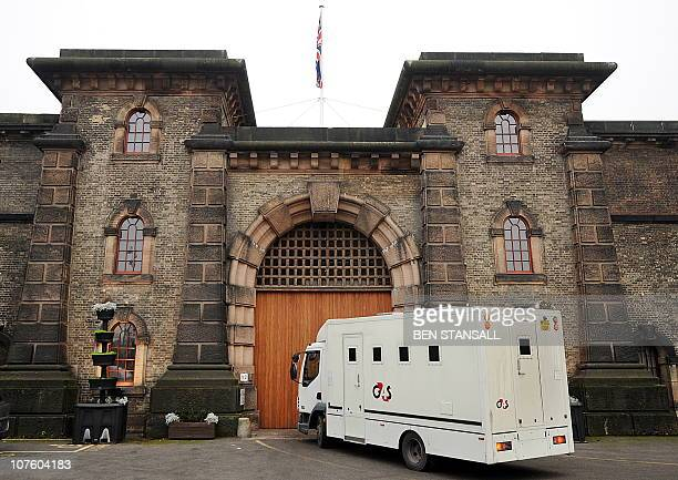 A prison van arrives at Wandsworth prison where Wikileaks founder Julian Assange is being held in south London on December 15 2010 WikiLeaks founder...