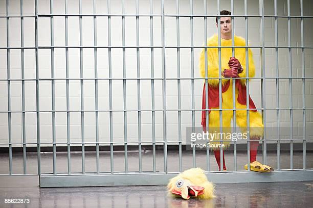 Prisoner in chicken suit