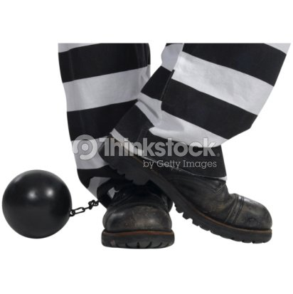 prisoner with ball and chain stock photo thinkstock
