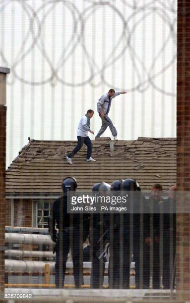 Prisoners hold a rooftop protest at Wealstun prison West Yorkshire The inmates began the protest at about 745pmA police spokesman said Negotiations...